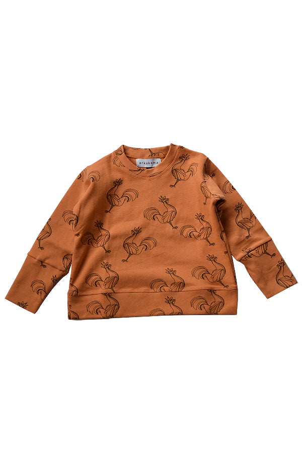 【20%OFF】Rooster SPD L/S Sweatshirt Caramel x D.BROWN