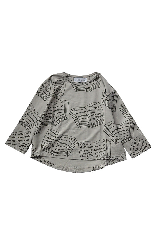 【20%OFF】BOOKS LOOSE L/S Tee S.GREY x D.GREY