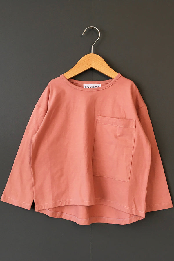 arkakama POCKET LOOSE L/S Tee DUSTY ROSE