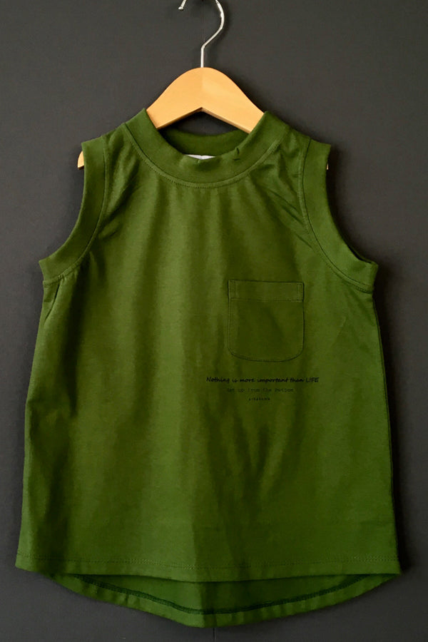 【20%OFF】arkakama COLOR WIDE TankTop FOREST GREEN