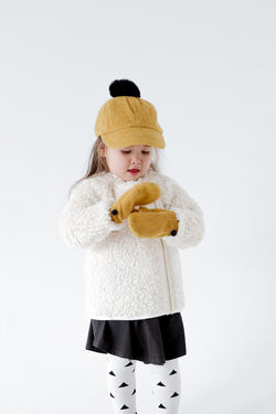 ChocolateSoup FLEECE POMPOM CAP YELLOW