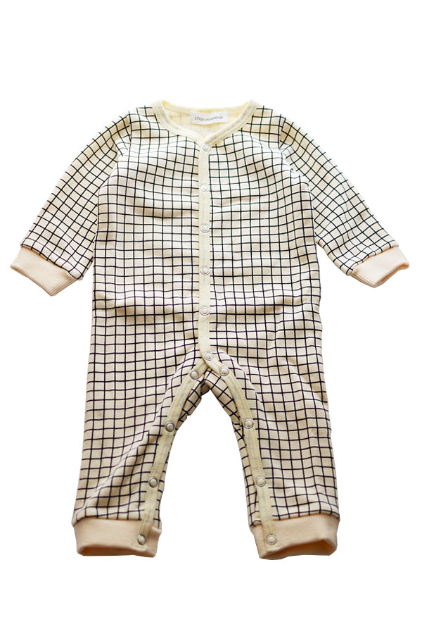 ChocolateSoup GEOMETRY SWEAT ROMPERS GRID