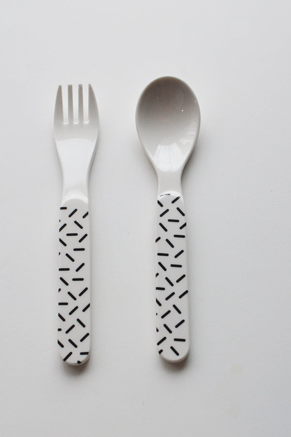 ChocolateSoup GEOMETRY MELAMINE SPOON&FORK stick