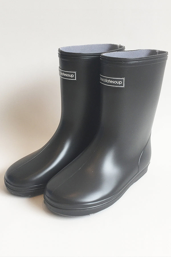ChocolateSoup Middle Rainboots CHARCOAL