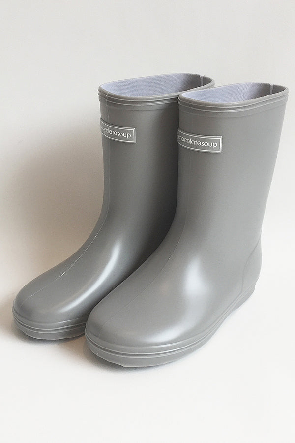 ChocolateSoup Middle Rainboots gray