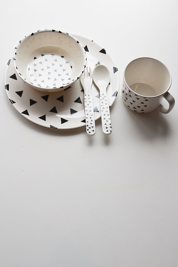 ChocolateSoup GEOMETRY MELAMINE SPOON&FORK triangle