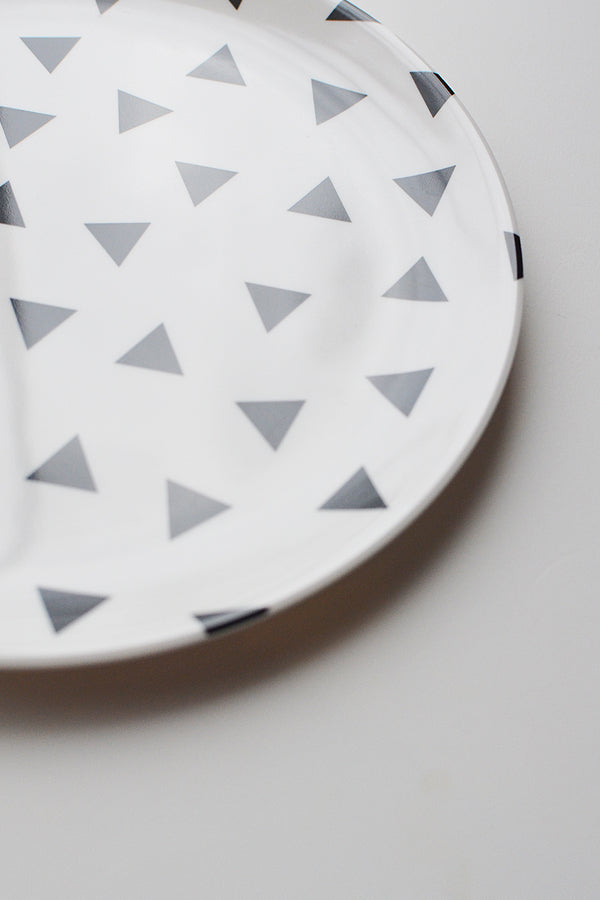 ChocolateSoup GEOMETRY MELAMINE PLATE triangle