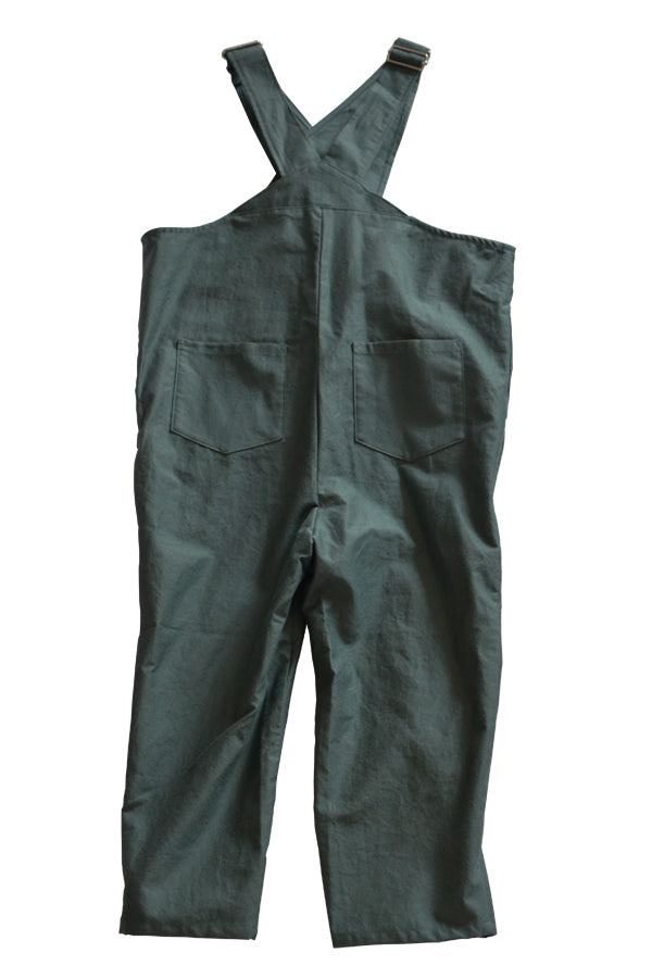 【30%OFF】folk made Cross Overalls スモークグリーン