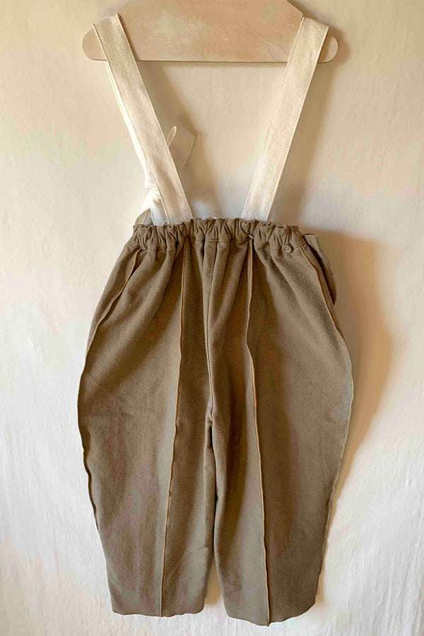 folk made suspenders pants beige x white