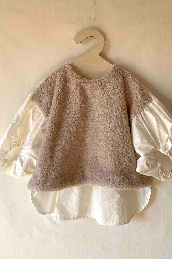 folk made boa pullover beige