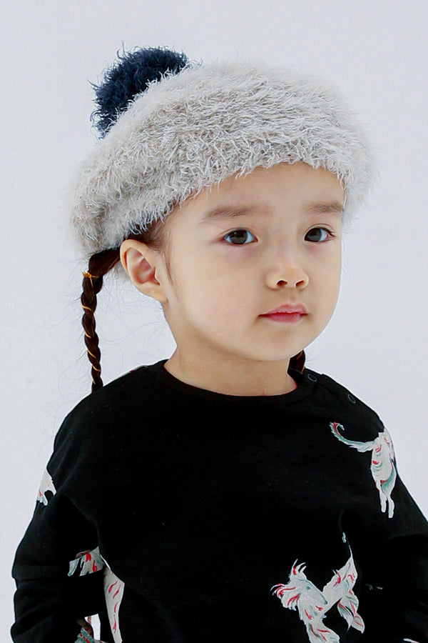 【土居様ご予約品】folk made beret gray 54-56cm