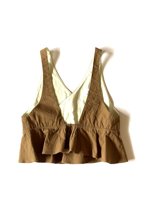 【30%OFF】folk made flare vest beige