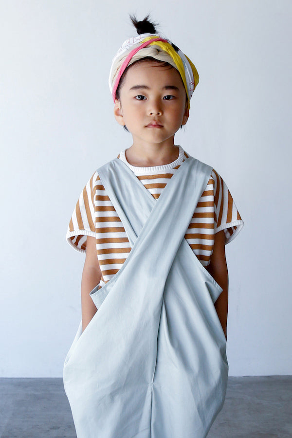 folk made border cocoon pull beige x white