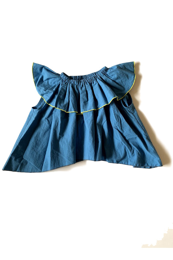 【松本様ご予約品】folk made frida pullover blue L