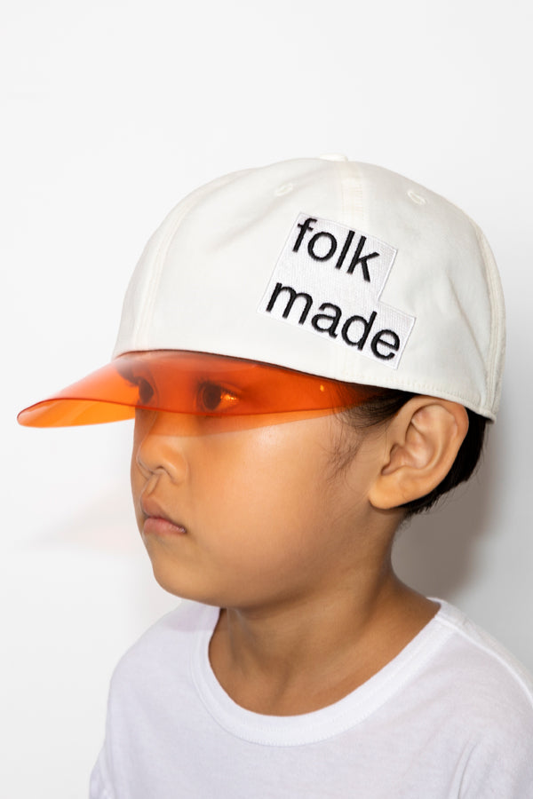 folk made lalique cap white