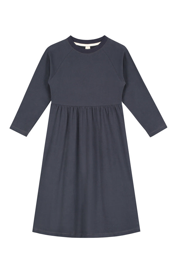 L/S Long Dress Navy Blue