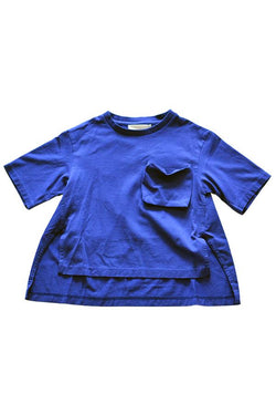 【30%OFF】GRIS Print Big T-Shirts Royal Blue