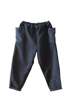 Grosgrain pants Black
