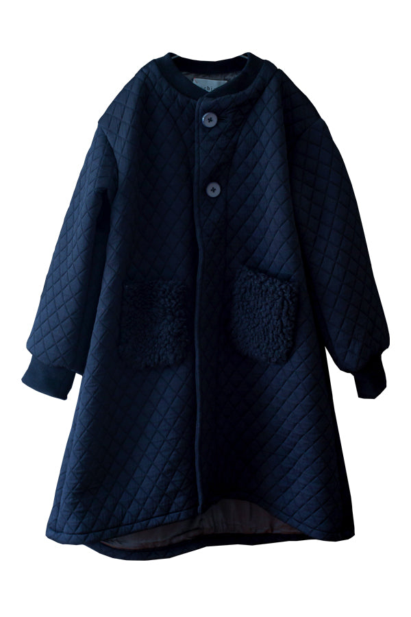 【20%OFF】Quilting longcoat Black