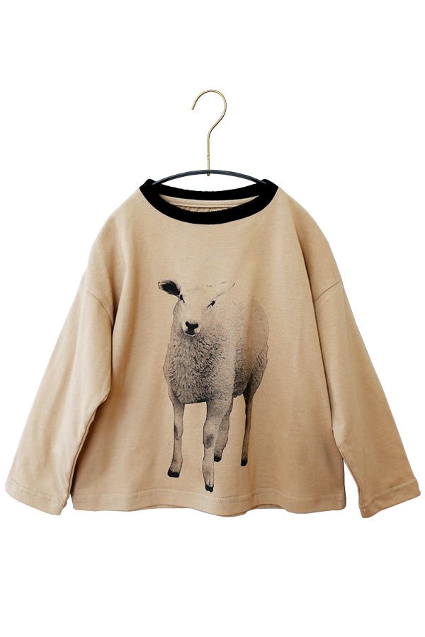 【30%OFF】michirico Sheep longsleeve T cinnamon