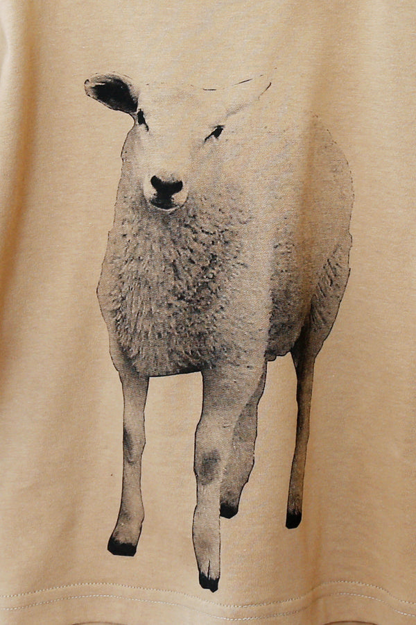 michirico Sheep longsleeve T cinnamon