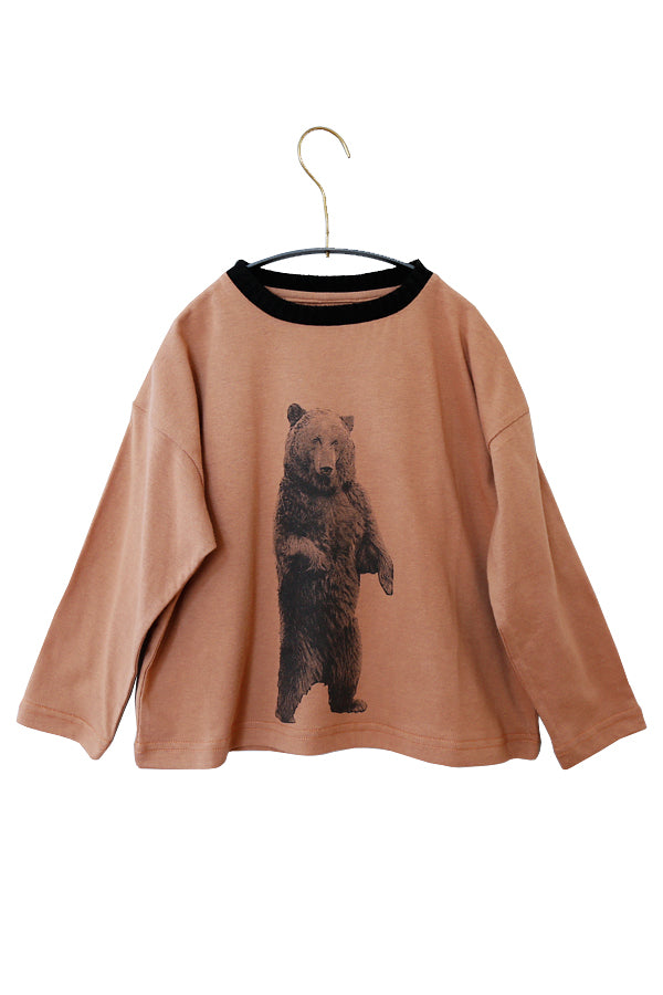 【小松様ご予約品】michirico Bear longsleeve T brown S