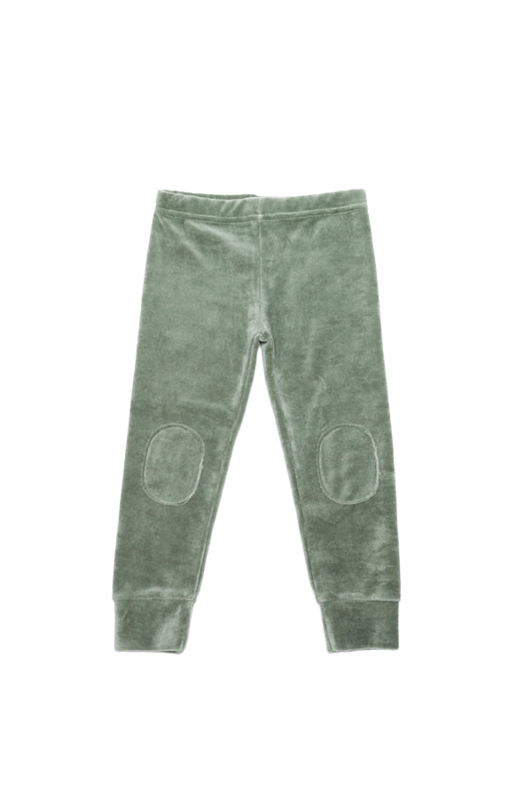 VELVET LEGGING DUCK GREEN