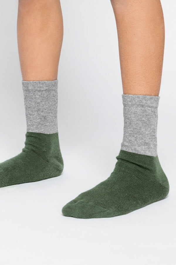 SOCKS GREY / DUCK GREEN