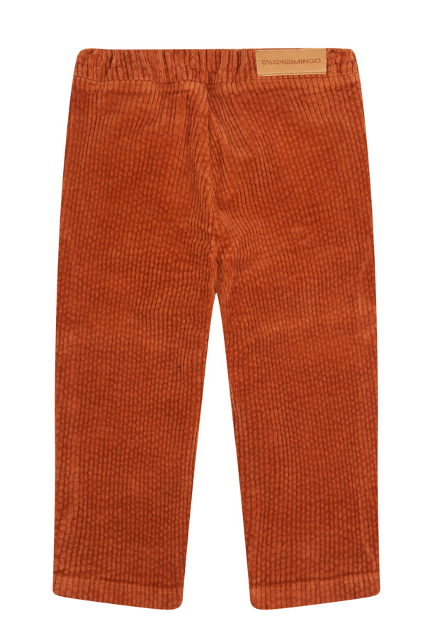 【30%OFF】MINGO. TAPARED CORDUROY TROUSER LEATHER BROWN