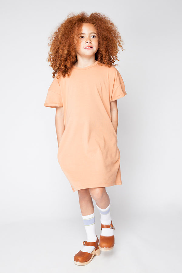T-SHIRT DRESS TOASTED NUT