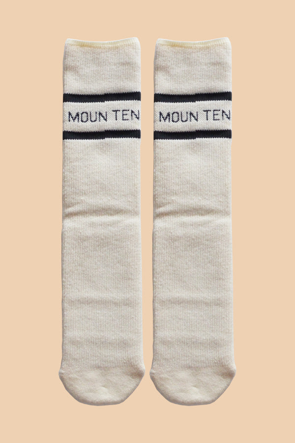 MOUN TEN. line socks white