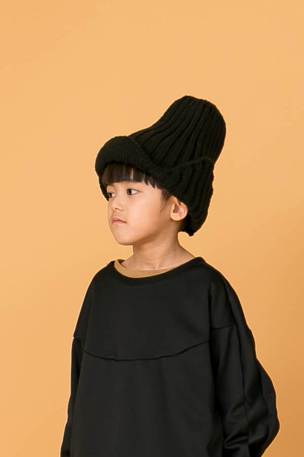 MOUN TEN. knit flight cap black