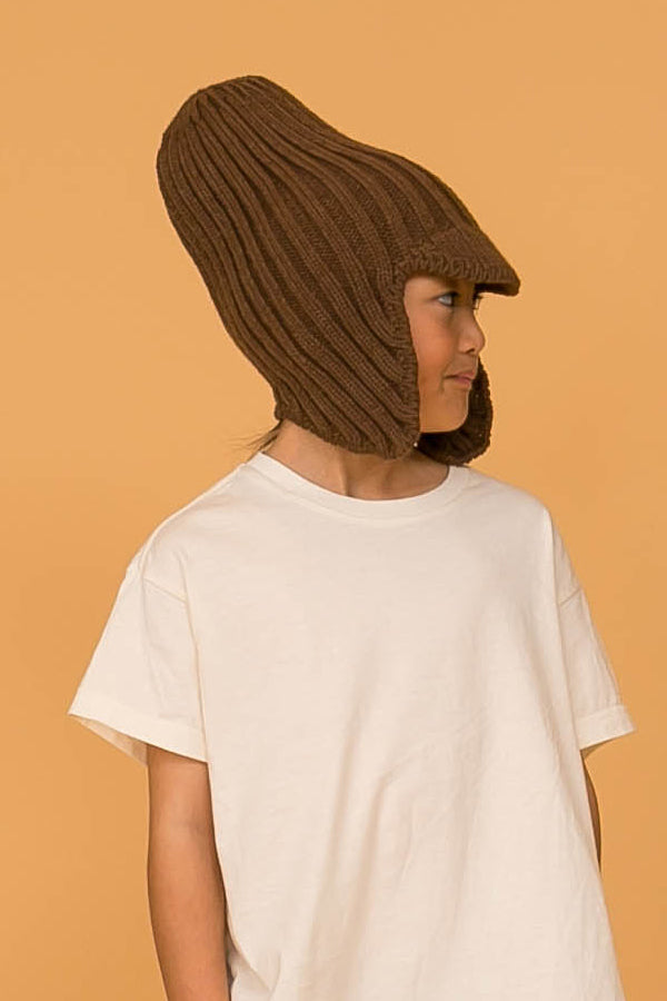 MOUN TEN. knit flight cap brown