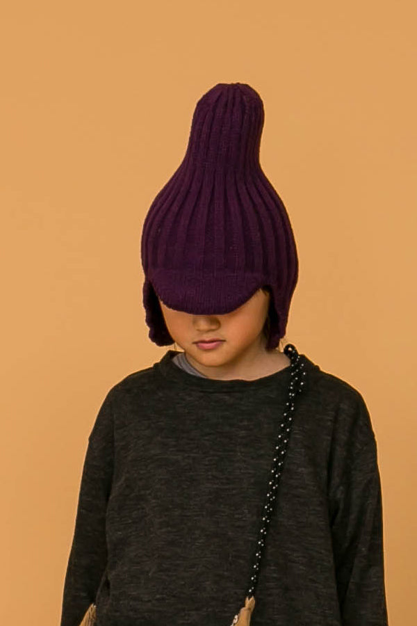 MOUN TEN. knit flight cap purple