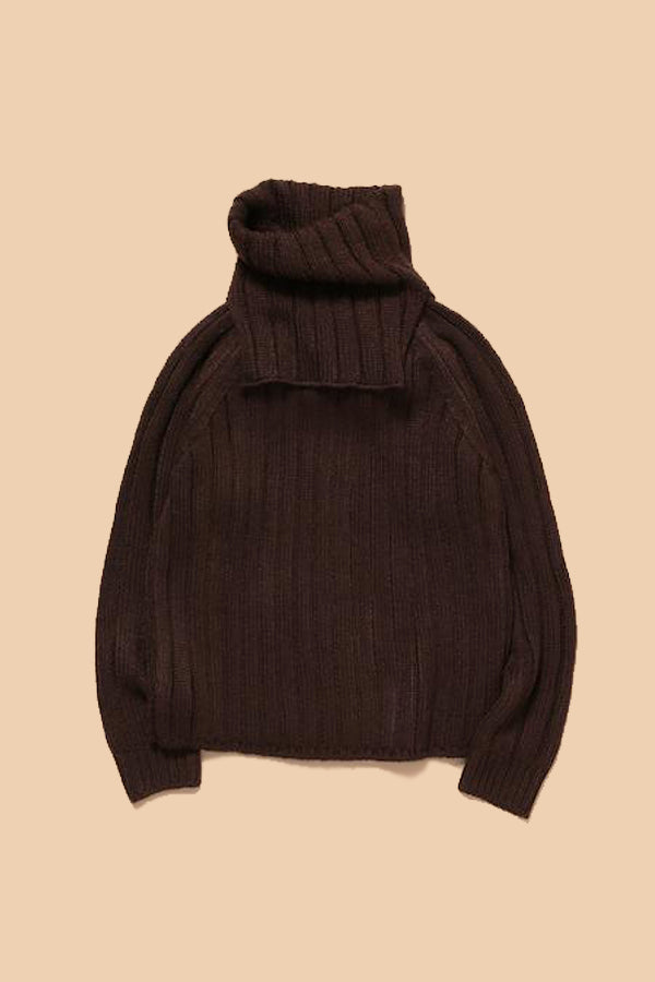 MOUN TEN. separate knit brown S(100cm)