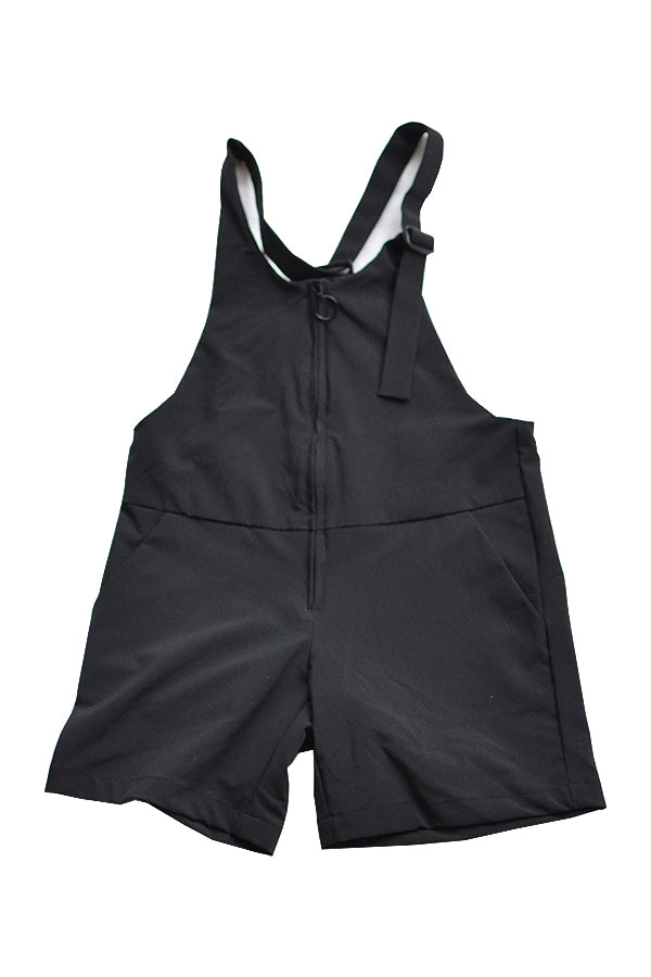 NYLON STRETCH JUMPSUITS <black>