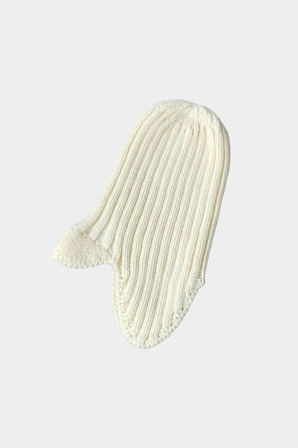 MOUN TEN. knit flight cap white
