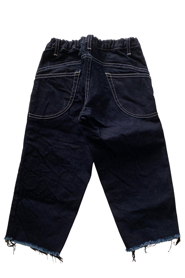 MOUN TEN.  WIDE CROPPED DENIM Navy Black