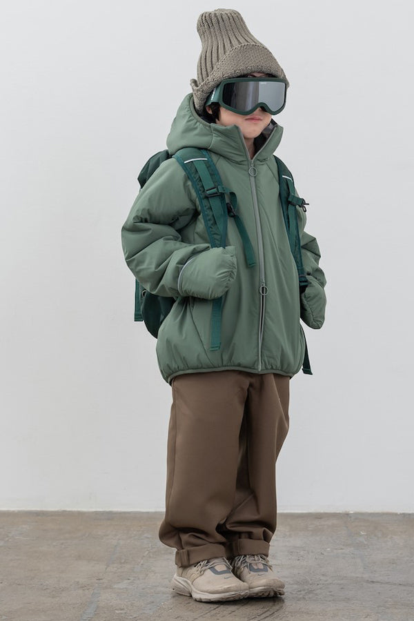 MOUN TEN. air blouson ashgreen