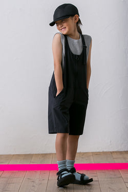 MOUN TEN.  NYLON STRETCH JUMPSUITS black