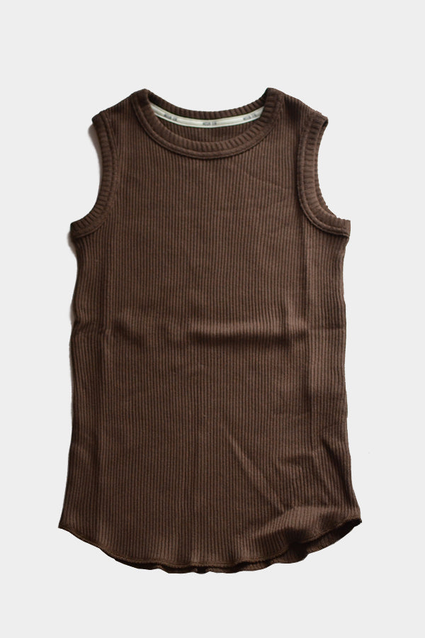 MOUN TEN.  SOFTRIB TANKTOP heather brown
