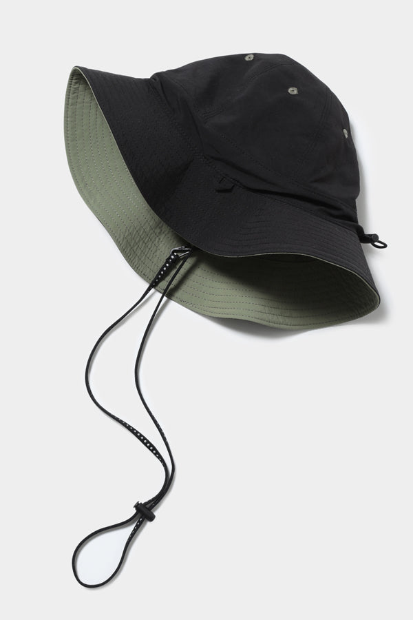 MOUN TEN. reversible adventure hat black x khaki
