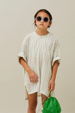 【堤様ご予約品】stripe chiffon tunic green 140
