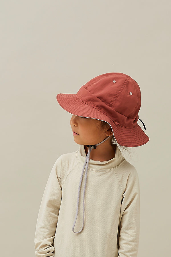 【ご予約商品】MOUN TEN. reversible adventure hat beige x tarracotta