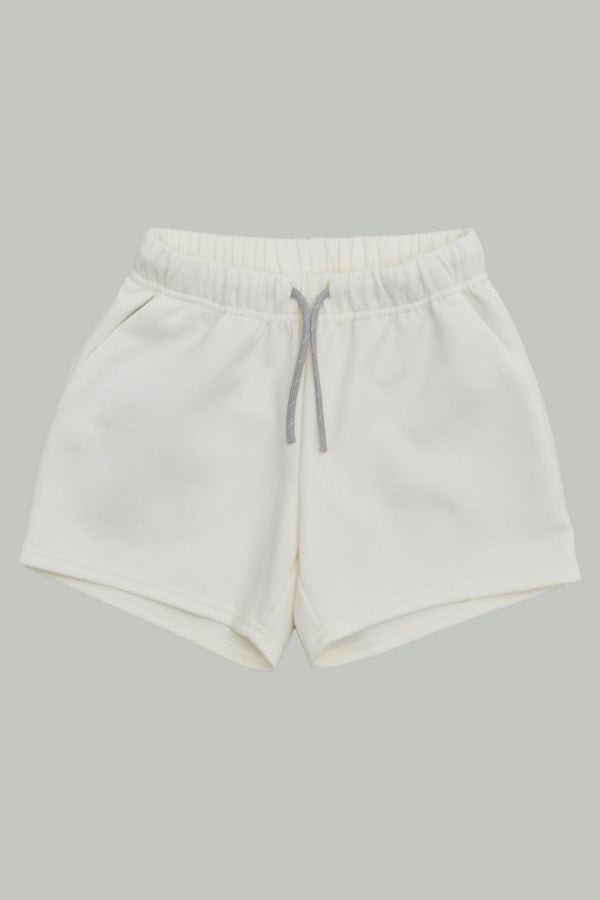 【堤様ご予約品】double knit shorts ecru 0