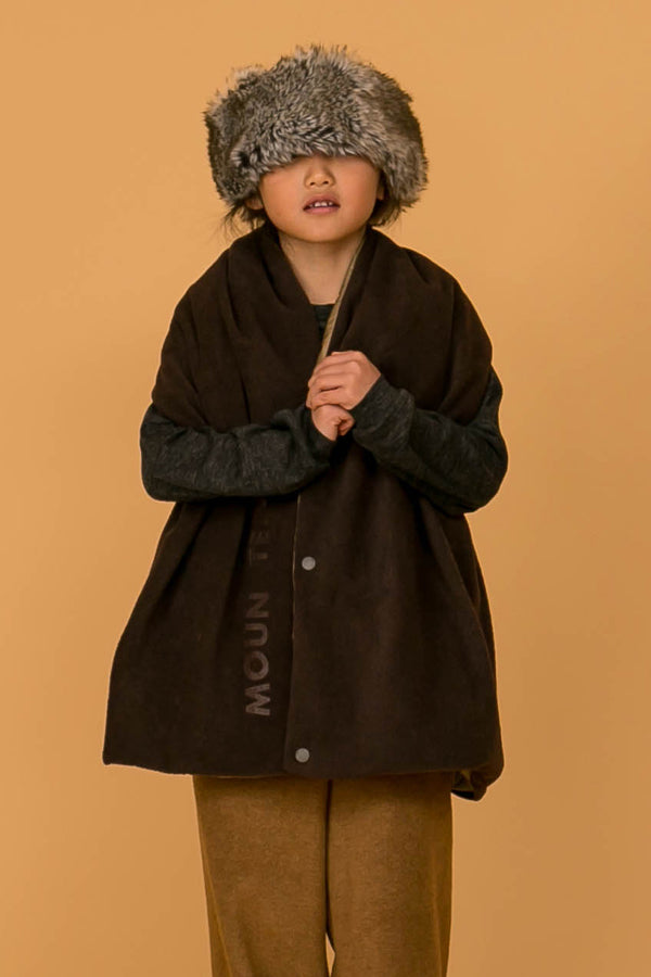 MOUN TEN. lightfleece stole brown