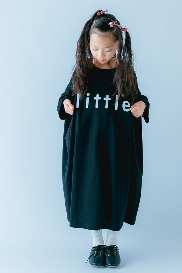 nunuforme little ロング T Black