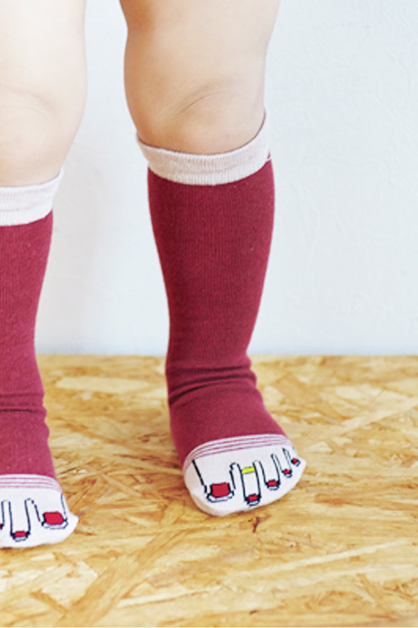 ONYVA YUBI SOCKS BABY Red