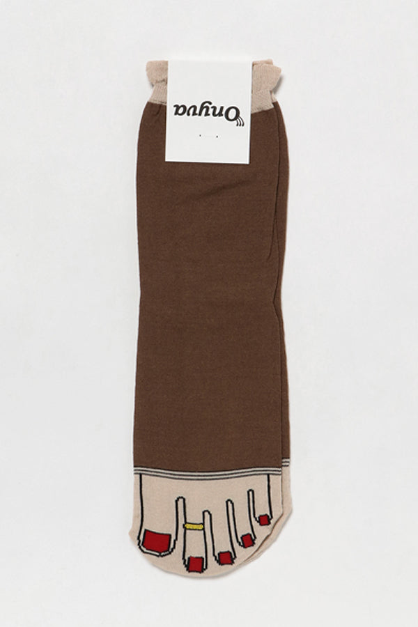 ONYVA YUBI SOCKS Brown