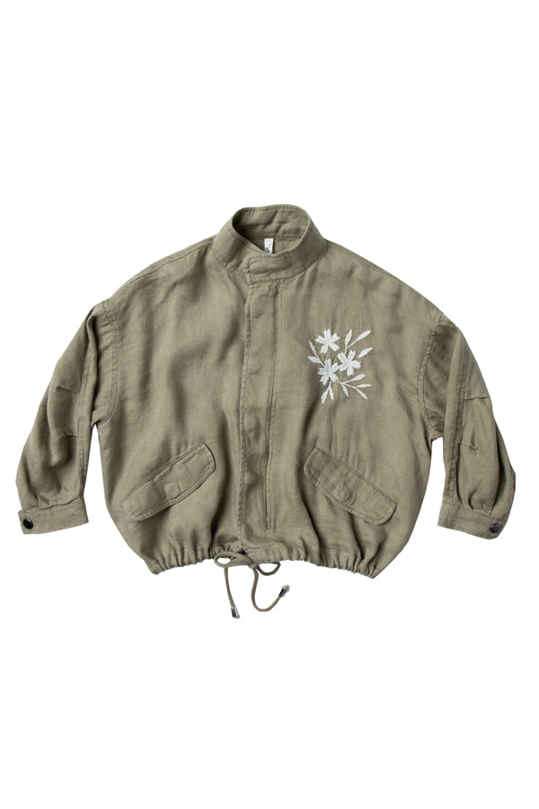 【30%OFF】cropped bomber olive